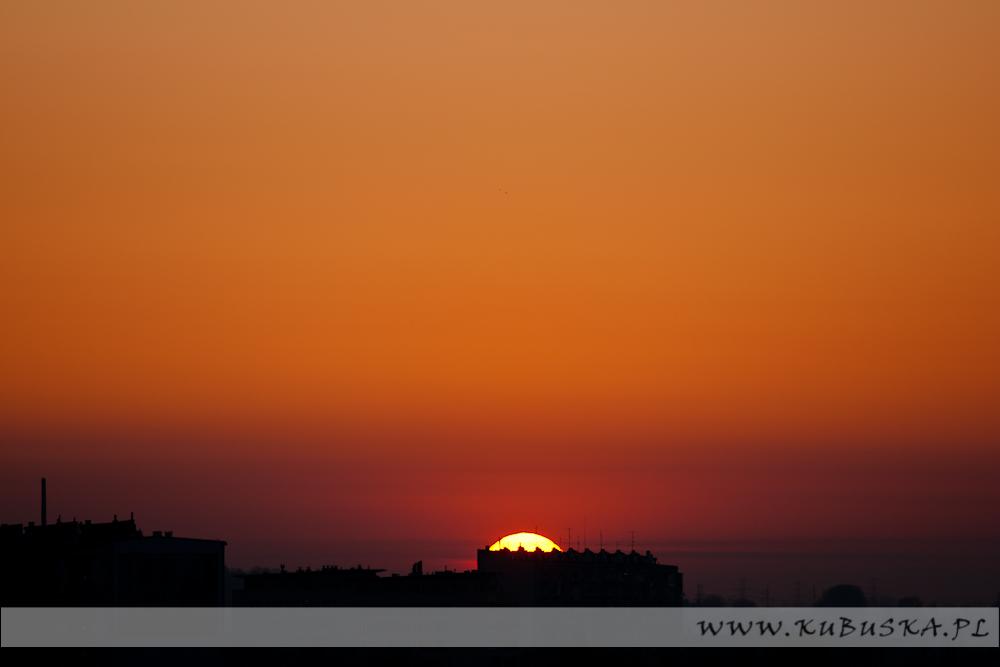 Wschód słońca od strony północnej, fot. Konrad Kubuśka