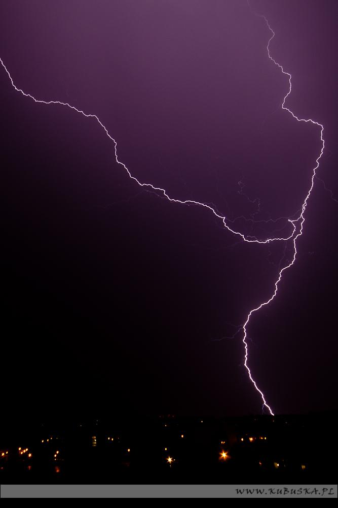 Letnia burza nad Krakowem