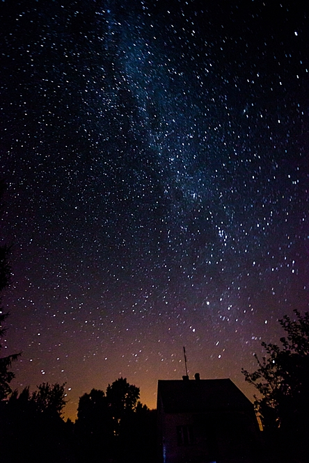 Nocne niebo nad Konaszówką, fot. Konrad Kubuśka